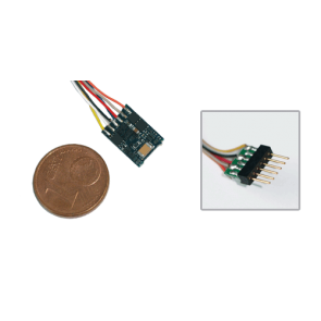 Esu 54684 - LokPilot micro V4.0, DCC, 6-poligem Stecker mit Kabelbaum. OPVOLGER IS: 59826