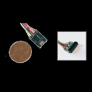 Esu 54687 - LokPilot micro V4.0, Multiprotokolldecoder MM/DCC/SX, mit 6-poligem Stecker NEM 651 mit Kabelbaum