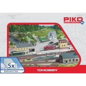 "Piko 61923 - Gebäude Set ""Bahnhof"" 5 teilig"