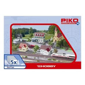 "Piko 61925 - Gebäude Set ""Dorf"" 5 teilig"