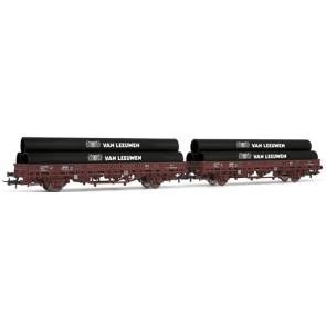 Rivarossi HR6169 - 2-delige platte wagen set 'Van Leeuwen'