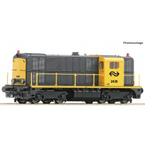 Roco 70790 - NS-dieselloc 2435 met geluid, werkende zwaailichten en bedienbare koppelingen DC.