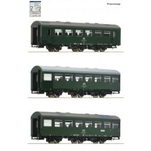Roco 74070 - 3 delige set 1: Rekowagens.