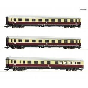 "Roco 74072 - 3 delige personenwagen set 1: TEE 74/75 ""Roland"""