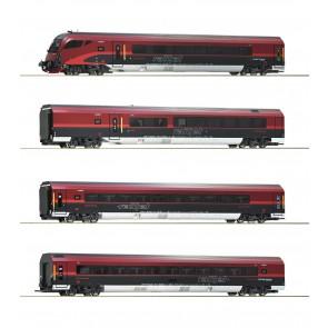 Roco 74083 - 4-tlg Set Railjet DC