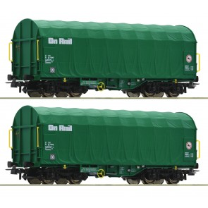 Roco 76049 - 2-delige set schuifhuifwagens OnRail Nederland