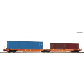 Roco 77360 - Dubbele containerwagen T2000 + containers