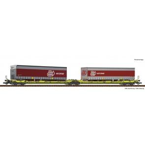 Roco 77391 - Dubbele containerwagen T3000e + Arcese trailer