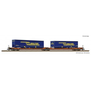 Roco 77393 - Dubbele containerwagen T3000e + LKW Walter