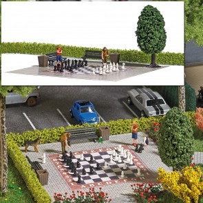 Busch 7839 - Action-Set: Gartenschach H0