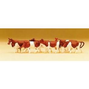 Preiser 79155.r - 1:160 Koeien - Roodbont