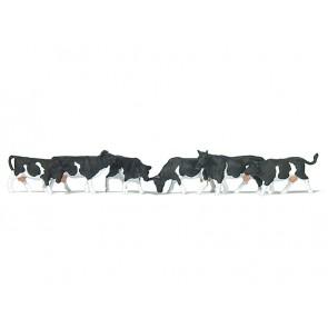 Preiser 79228.z - 1:160 Koeien - Zwartbont