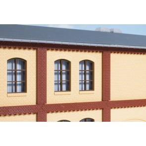 Auhagen 80416 - Säulen Obergeschoss und Ziegelfriese rot