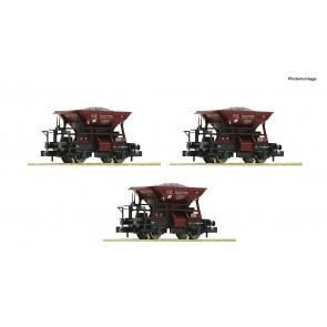 Fleischmann 822706 - 3 delige set: grintwagens