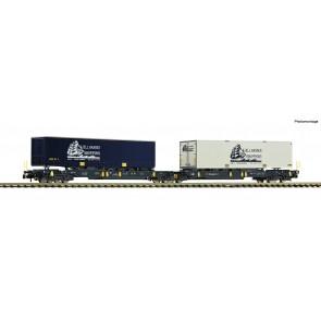Fleischmann 825012 - Dubbele gelede containerwagen