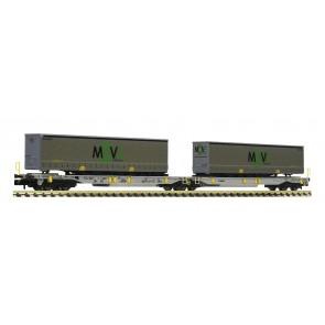 Fleischmann 825025 - Dubbele containerdraagwagen Move Nederland