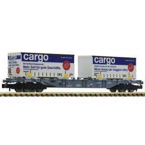Fleischmann 825209 - Containertragwagen Sgns + 2x W