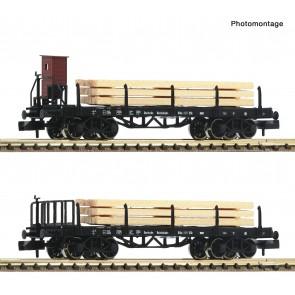 Fleischmann 828507 - 2 delige set: rongenwagons