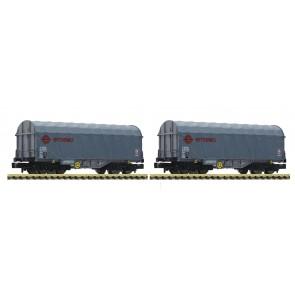 Fleischmann 837927 - 2-delige set schuifhuifwagens ERMEWA Nederland
