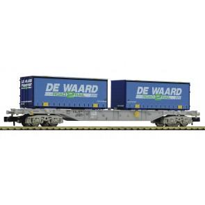 """Fleischmann 845373 - Draagwagen met """"De Waard""""-containers, NL"""