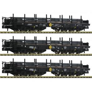 Fleischmann 845513 - Drie zwaarlastwagens met staal-lading NL