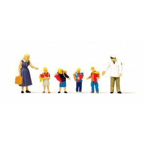 Preiser 10596 - 1:87 Kinderen tijdens de eerste schooldag
