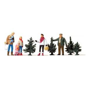 Preiser 10627 - 1:87 Kerstbomen verkoop