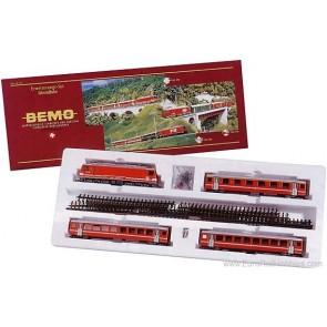 Bemo 7262400 - Treinset SBB met Hge 4/4 II en 3 rijtuigen. H0m-spoor OP=OP!