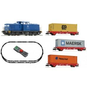 Fleischmann 931882 - Digitale Startset: BR 204 met Containertrein, OP=OP!