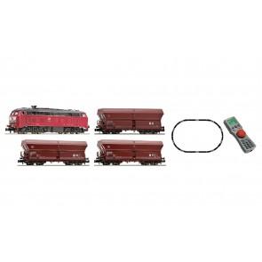 Fleischmann 931887 - Digitale startset Diesellocomotief BR218 met goederenwagens, DB
