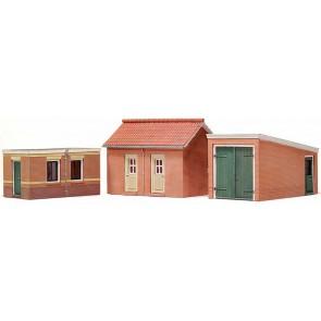 Artitec 10.116 - Twee schuren + garage  kit 1:87