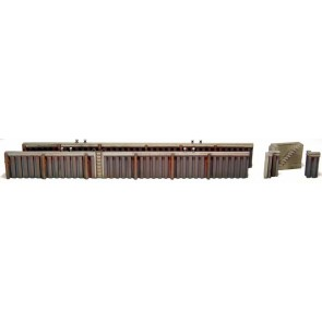 Artitec 10.144 - Kademuur uit damwandprofiel  kit 1:87