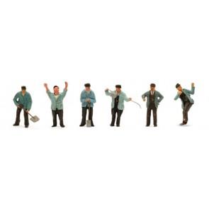 Artitec 10.306 - Set met 6x personeel stoomtijdperk  kit 1:87