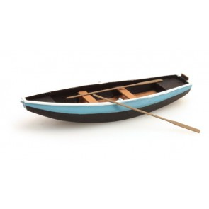Artitec 387.09 BL - Stalen roeiboot blauw 1 stuk  ready 1:87