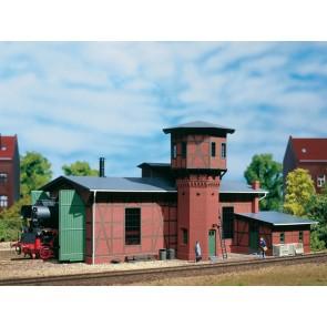 Auhagen 11400 - Lokschuppen mit Wasserturm