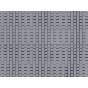 Auhagen 52223 - Dekorplatten Fußsteig grau