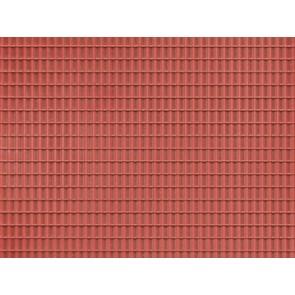 Auhagen 52425 - 1 Dekorplatte Dachpfanne rotbraun lose