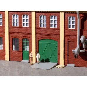 Auhagen 80250 - Tore und Türen grün, Stufen, Rampen