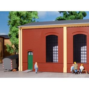 Auhagen 80502 - Wände 2325B rot, Industriefenster E