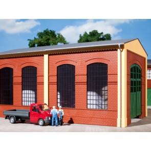 Auhagen 80504 - Wände 2326B rot, Industriefenster E
