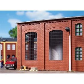 Auhagen 80509 - Wände 2342N rot, Industriefenster E