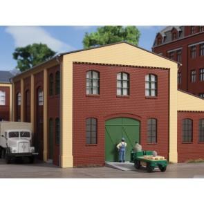 Auhagen 80518 - Wände 2391A rot, Industriefenster L