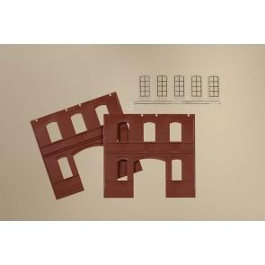 Auhagen 80523 - Wände 2391C rot, Industriefenster L