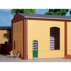 Auhagen 80602 - Wände 2325B gelb, Industriefenster E