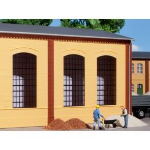 Auhagen 80603 - Wände 2325A gelb, Industriefenster E