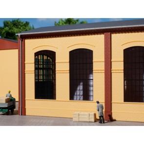 Auhagen 80604 - Wände 2326B gelb, Industriefenster E
