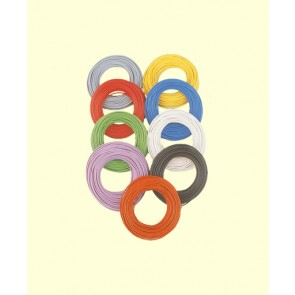 Brawa 32409 - Decoderlitze 0,05 mm², 10 m Ring, weiss