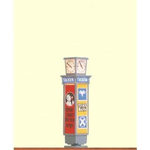 Brawa 5761 - H0 Reklamesäule mit Uhr beleuchtet