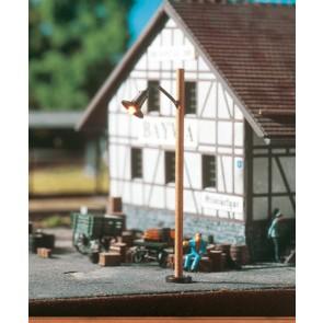 Brawa 84061 - H0 LED-Holzmastleuchte Stecks., einzeln