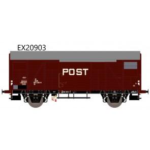 Exact train EX20903 - NS Gs 1410 Post mit braunen Luftklappen Epoche IV Nr. 1202 616-8